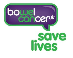Bowel Cancer UK aims to save lives and improve the quality of life of anyone affected y bowel cancer