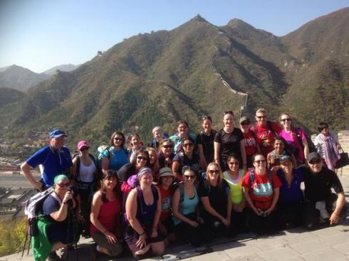 Great Wall Trek group