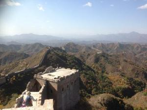 View from the top of the Great Wall